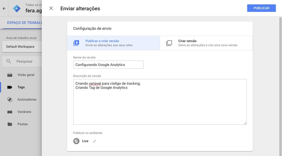 Google Analytics via Google Tag Manager